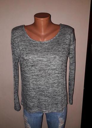 Серая базовая кофта пуловер tally wejl