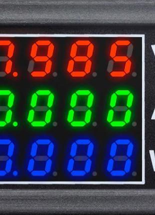 Ваттметр-вольтметр-амперметр DC до 100В, 10A, 1000 Вт