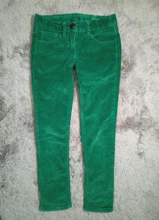 Стильные вельветовые брюки скинни мальчику benetton, 6-7 лет