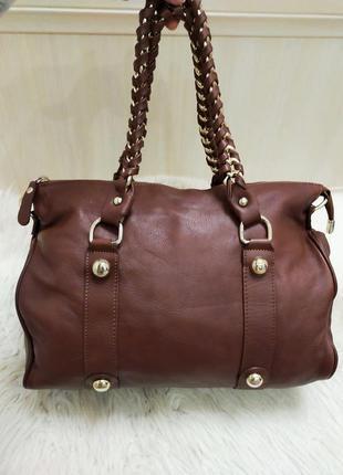 Роскошная кожаная сумка vera pelle