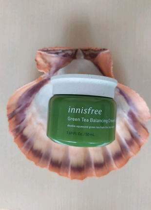 Innisfree Green Tea Balancing Cream EX (Новая упаковка).