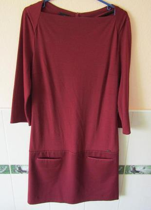 Платье бордовый цвет