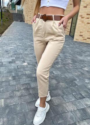 Модные женские джинсы летние с поясом
