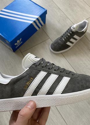 Адидас газель серые женские кроссовки/кеды adidas gazelle