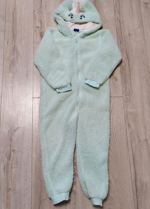 Детская пижама, кигуруми, костюм Единорога на 4-6 лет