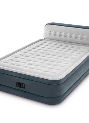 Двуспальная надувная кровать с подголовником Intex 64448
