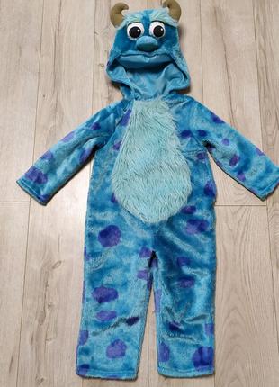 Детский костюм, кигуруми, пижама Монстрика на 3-4 года