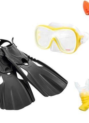 Набор 3 в 1 для плавания Intex 55658 (маска, трубка, ласты)