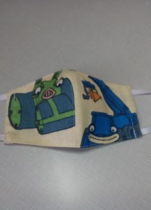 Детские многоразовые маски ручной работы