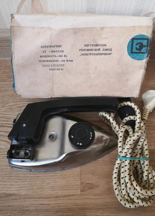 Утюг (электроутюг) УТ - 400-0,8 220. Дорожный, складной. СССР
