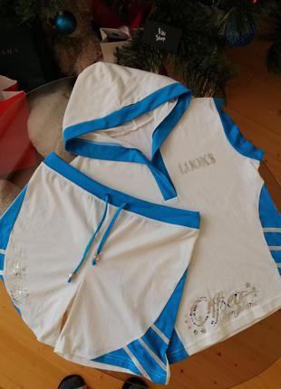 Спортивний костюм майка з шортами на літо спортивный костюм с ...