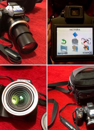Идеал! Фотоаппарат цифровой Olympus Ultra Zoom + сумка