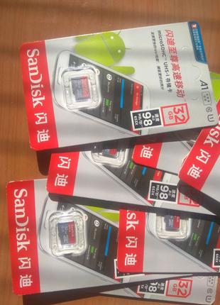 Новая карта памяти SanDisk A1 Micro SD 32GB SDHC MicroSD