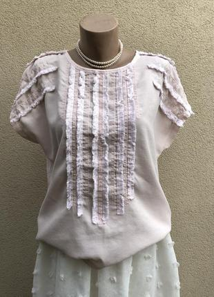 Комбинирован блуза,рубаха,футболка жабо,этно бохо стиль,рюшами...