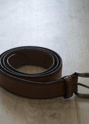 Мужской темно-коричневый пояс ремень
