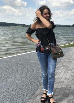 Топ блуза блузка майка stradivarius
