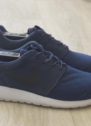 Roshe run nike мужские кроссовки оригинал синие