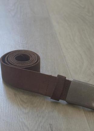 Мужской кожаный ремень пояс оригинал коричневый