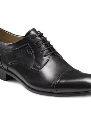 Туфли ecco atley 76302 оригінал натуральна кожа р.44