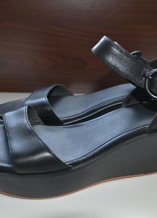 Camper 39р сандалии босоножки на танкетке кожаные