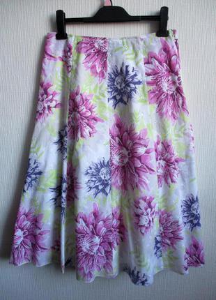 Распродажа! нежная юбка с вышивкой в цветочный принт classic