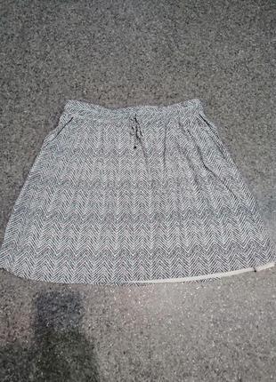 Мини юбка из вискозы