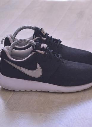 Nike roshe run женские кроссовки черные сетка оригинал весна о...