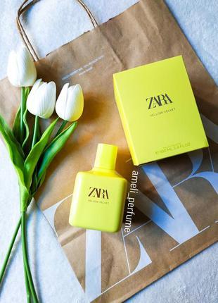 Zara yellow velvet (edt 100 ml) (оригінальні парфуми, духи, ту...