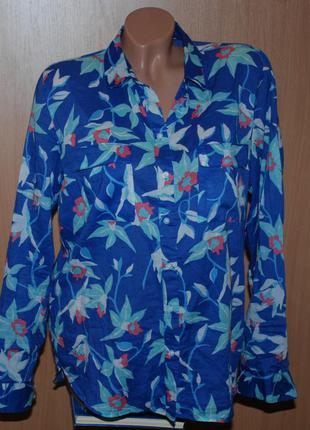 Блуза принтованая бренда gap  / 100%хлопок/