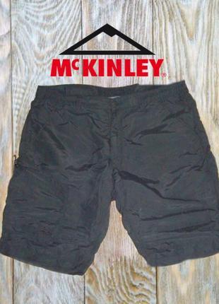 🐾 🐾mckinley треккинговые легкие летние шорты мужские черные ка...