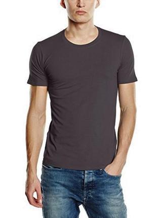 7-49 новая серая мужская футболка stars by stedman размер s хл...