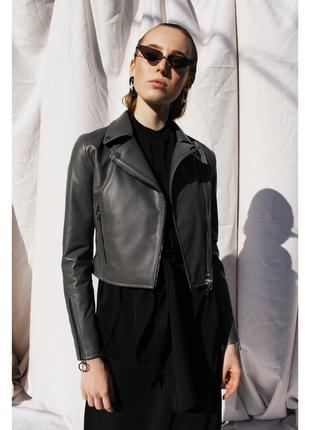 Куртка Silver 3 кожаная (серая, 44)