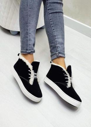 🔥 высокие кеды хайтопы р32-41 черные  зимние ботинки сапоги ха...