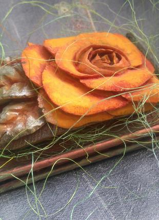 Декор для интерьера, сувенир резной цветок-мыло (ручная работа)