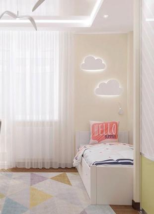 Дерев'яна настінна лампа в дитячу кімнату. Ручна робота. Декор