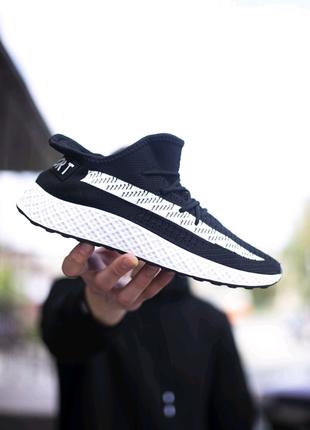 Мужские кроссовки Шовел Спорт чёрные белая полоса