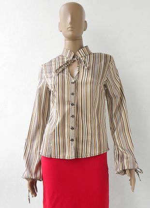 Оригінально пошита блузка в полоску 46-й розмір (40-й євророзм...