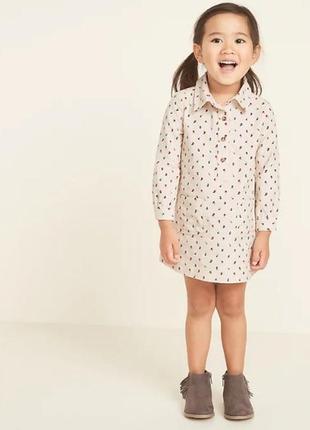Стильное вельветовое платье для девочки от oldnavy