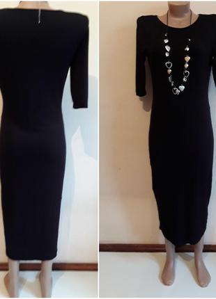 Черное трикотажное платье  карандаш