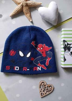 Демисезонная двухслойная шапка человек паук на мальчика spiderman