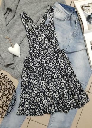Платье комбинезон в цветочный принт ромашки +подарок 🎁