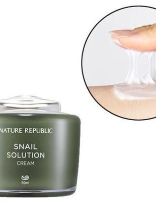 Антивозрастной улиточный крем nature republic snail solution c...