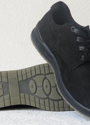 Ecco комфорт! Мужские туфли натуральный нубук ботинки осень весна