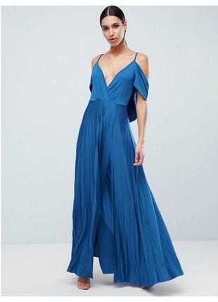 Шикарное платье длинное  синее  вечернее 46  размер тренд 2020...