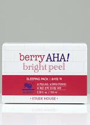 Ночная маска с пилинг-эффектом и кислотами etude house berry a...