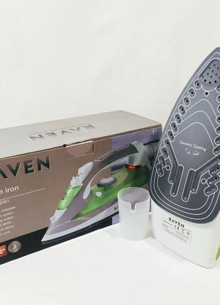 Утюг RAVEN EZ001 2200W высокое качество. Подошва - Керамика из ЕC