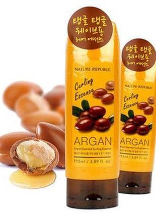 Эссенция для волос с аргановым маслом nature republic argan es...