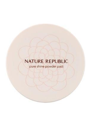 Компактная пудра nature republic pure shine powder pact №21 nu...