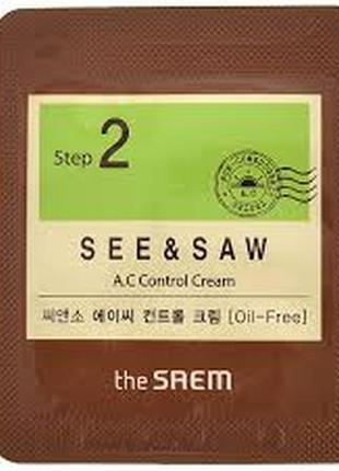 Крем для проблемной кожи the saem see & saw ac control cream к...