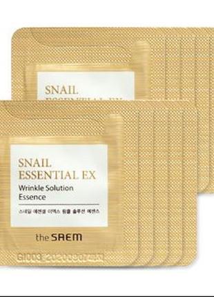 Сыворотка для лица с муцином улитки the saem snail essential e...